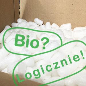 Przesyłka z apo-discounter.pl, wypełniona chipsami zrobionymi ze skrobii kukurydzianej