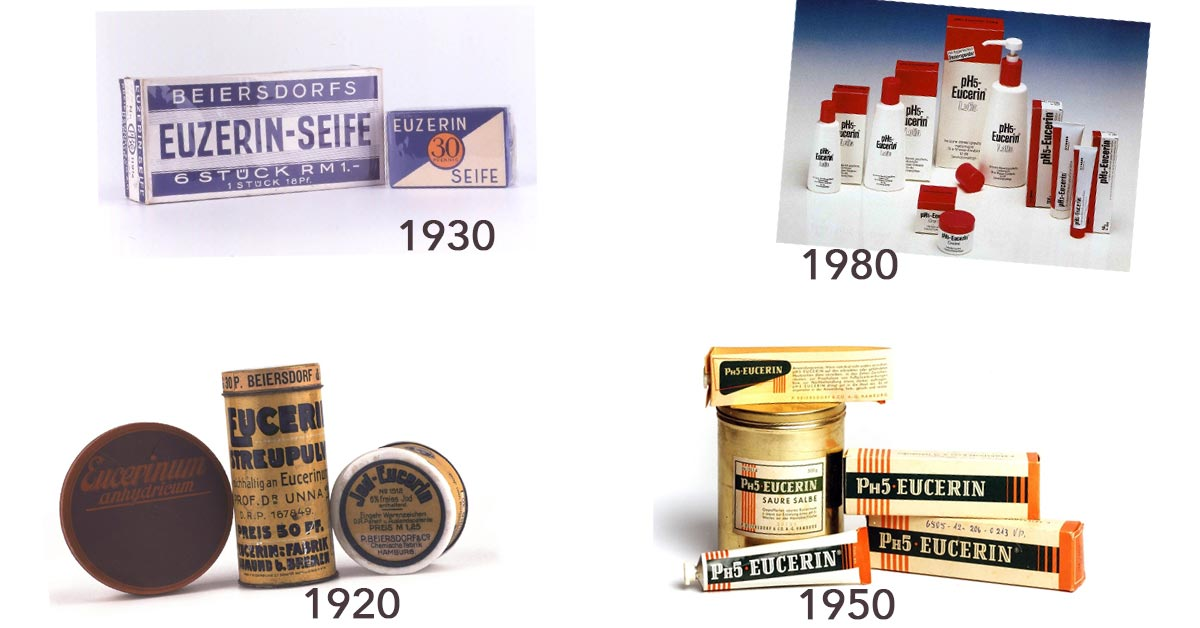 historyczne produkty marki eucerin