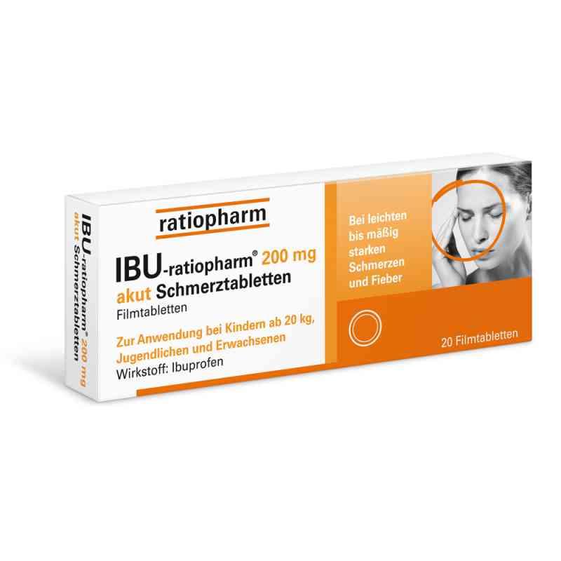 Ibu Ratiopharm 200 mg akut Schmerztbl. Filmtabl.  zamów na apo-discounter.pl