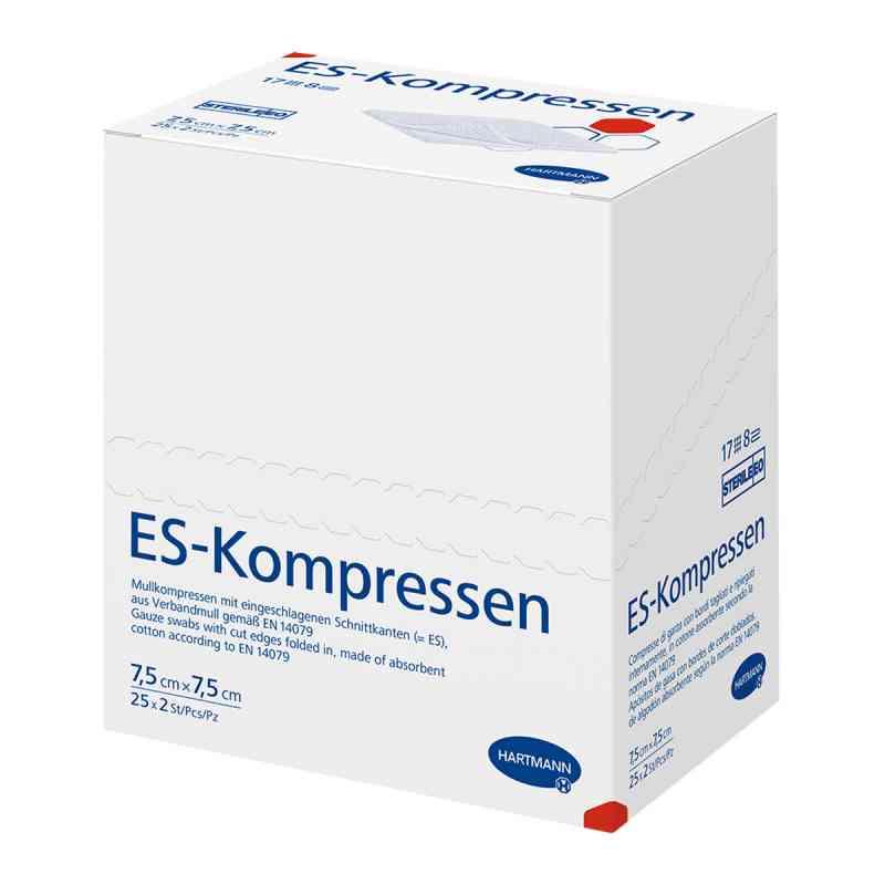 Kompresy Es 75x75cm 8-krotne jałowe  zamów na apo-discounter.pl