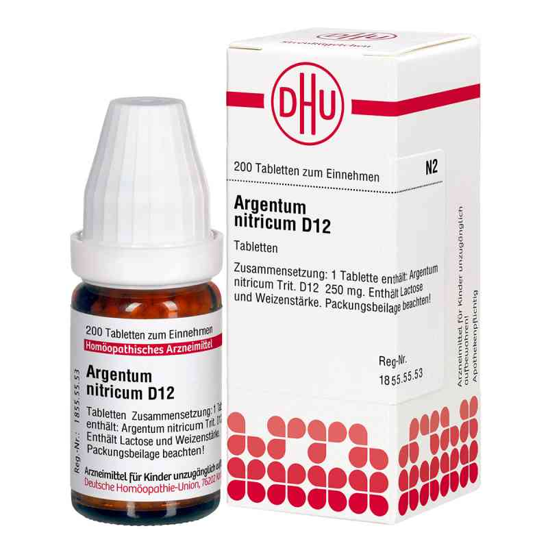 Argentum Nitricum D 12 Tabl.  zamów na apo-discounter.pl