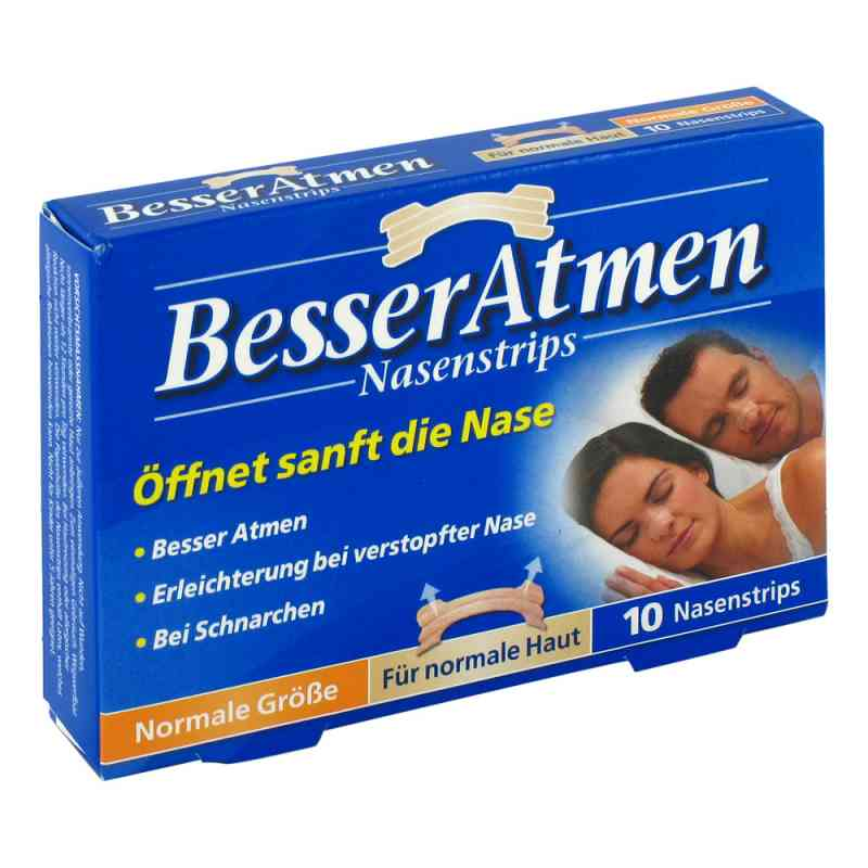 Besser Atmen Nasenstrips paski na nos ułatwiające oddychanie beż  zamów na apo-discounter.pl