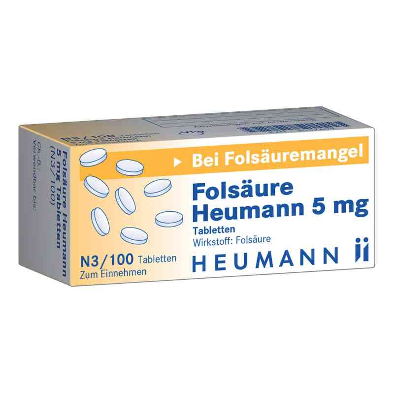 Folsaeure Heumann 5 mg Tabl.  zamów na apo-discounter.pl