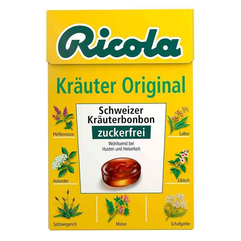 Ricola Box cukierki ziołowe bez cukru  zamów na apo-discounter.pl
