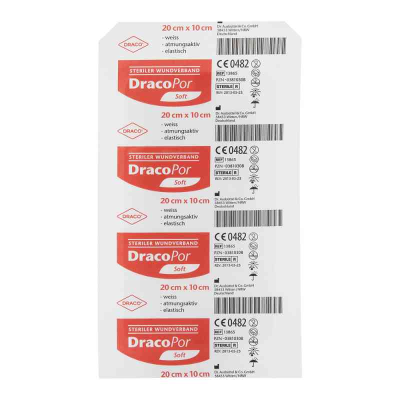 Dracopor plaster sterylny 20x10cm   zamów na apo-discounter.pl