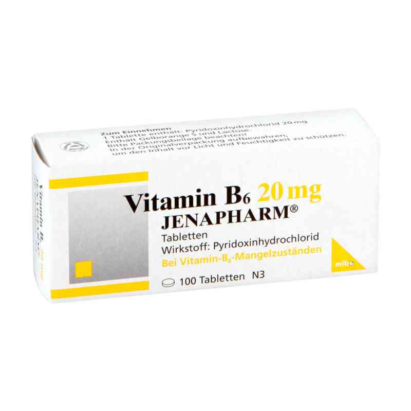 Vitamin B 6 20 mg Jenapharm Tabl. zamów na apo-discounter.pl