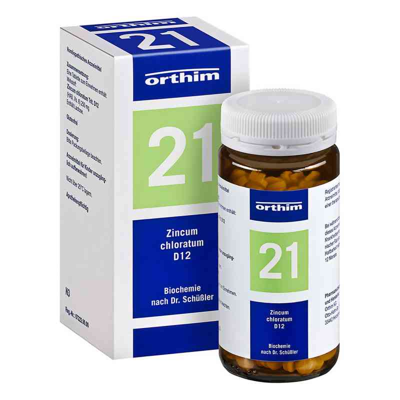 Biochemie Orthim 21 Zincum chloratum D 12 Tabl. zamów na apo-discounter.pl