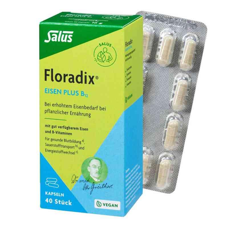 Floradix Żelazo plus witamina B12 kapsułki dla wegan zamów na apo-discounter.pl