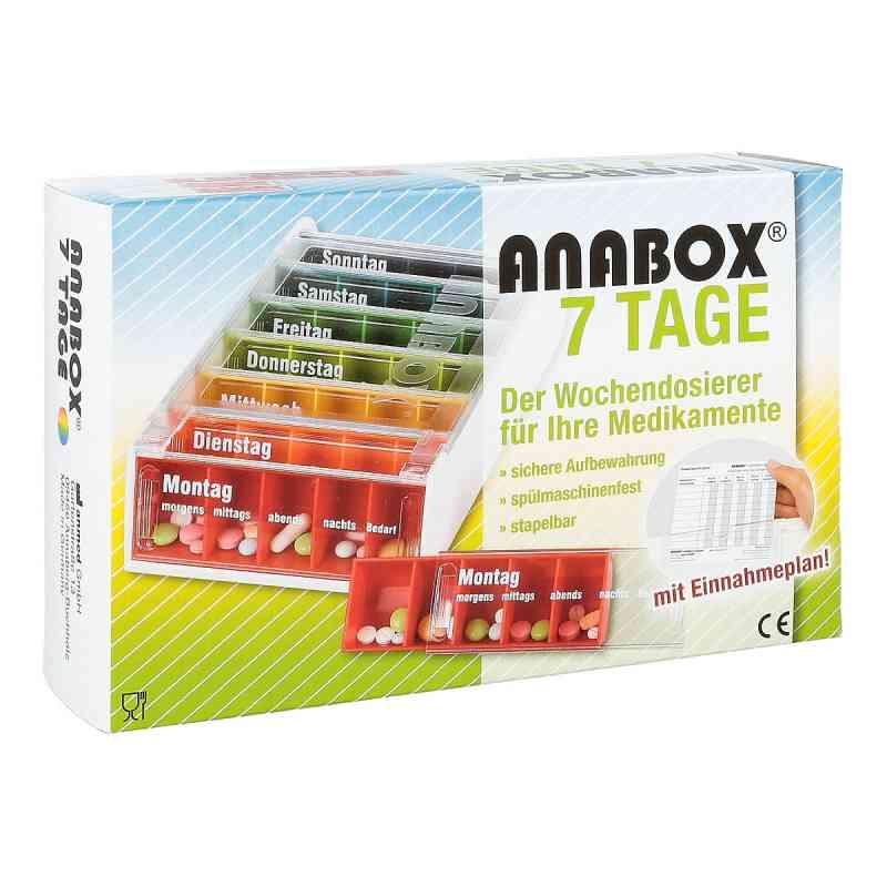 Anabox 7 Tage Regenbogen m.Einnahmeplan 1 szt. od WEPA Apothekenbedarf GmbH & Co K PZN 07120730