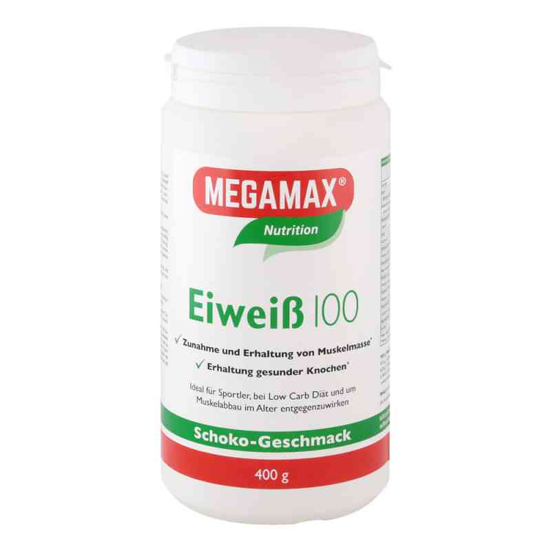 Białko 100 Megamax proszek o smaku czekoladowym 400 g od Megamax B.V. PZN 07378204