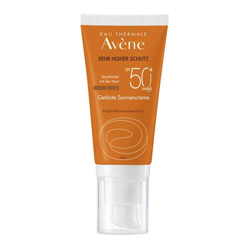 Avene Sunsitive tonujący krem p/słoneczny SPF 50+ zamów na apo-discounter.pl