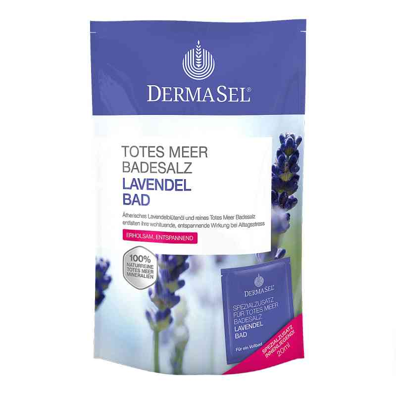 Dermasel sól do kąpieli z Morza Martwego z olejkiem lawendowym zamów na apo-discounter.pl