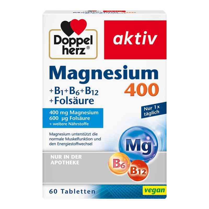 Doppelherz magnez 400mg+ wit.B+ kwas foliowy tabletki  zamów na apo-discounter.pl