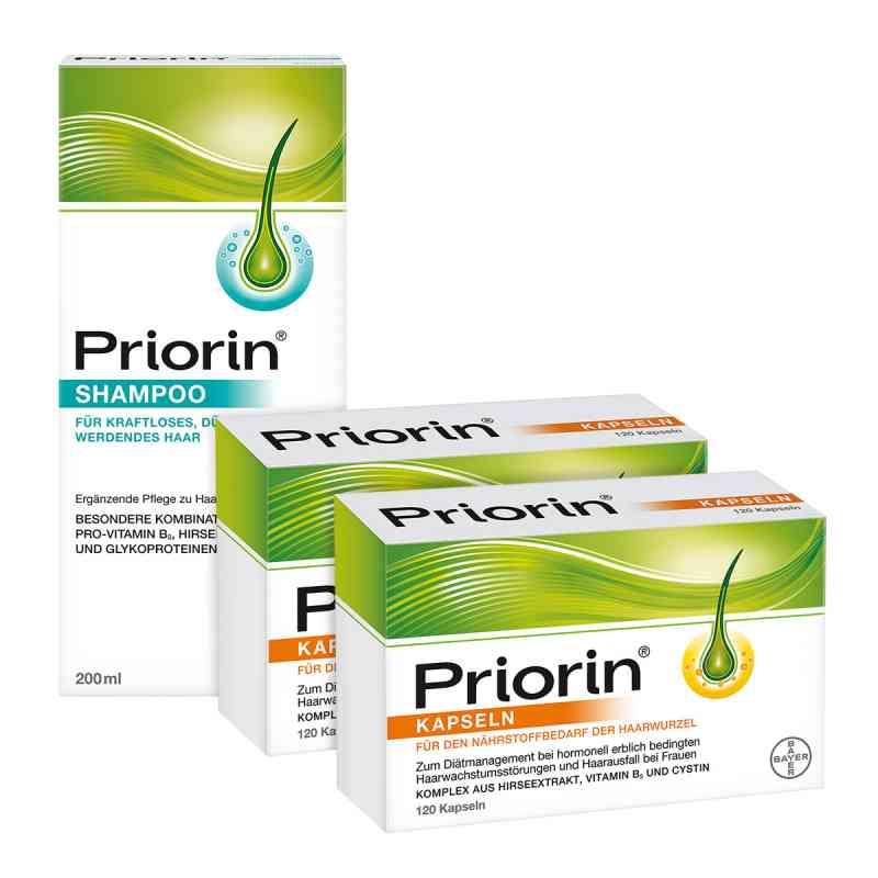 Priorin, 2x kapsułki 120 szt. + szampon 200 ml zestaw zamów na apo-discounter.pl