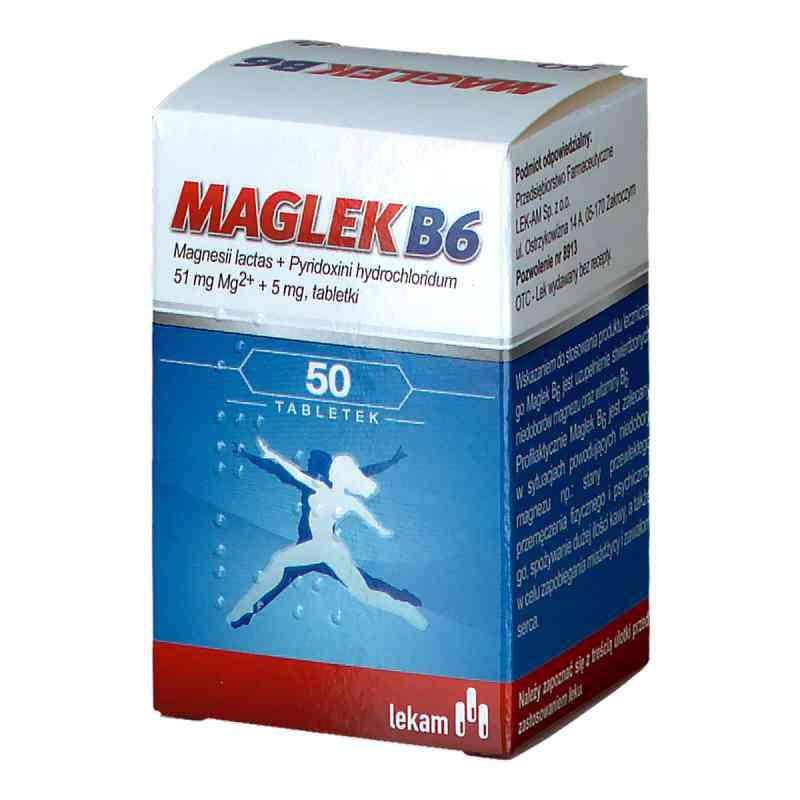 Maglek B6 tabletki z magnezem i witaminą B6 51 mg + 5 mg  zamów na apo-discounter.pl
