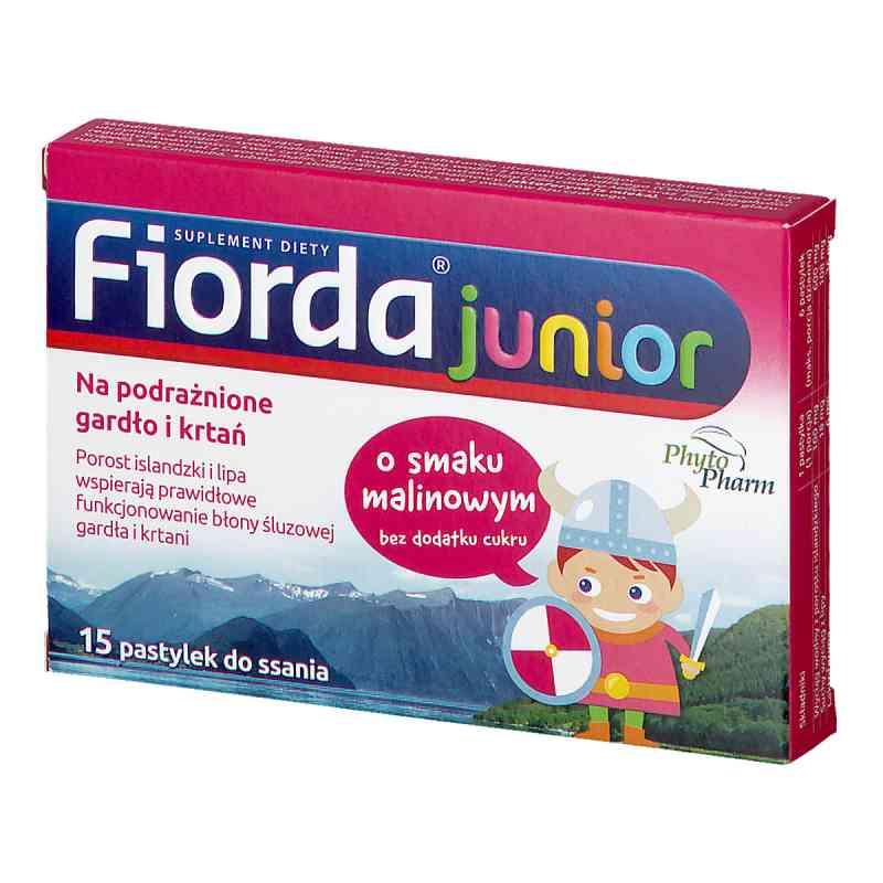 Fiorda Junior o smaku malinowym, pastylki do ssania  zamów na apo-discounter.pl