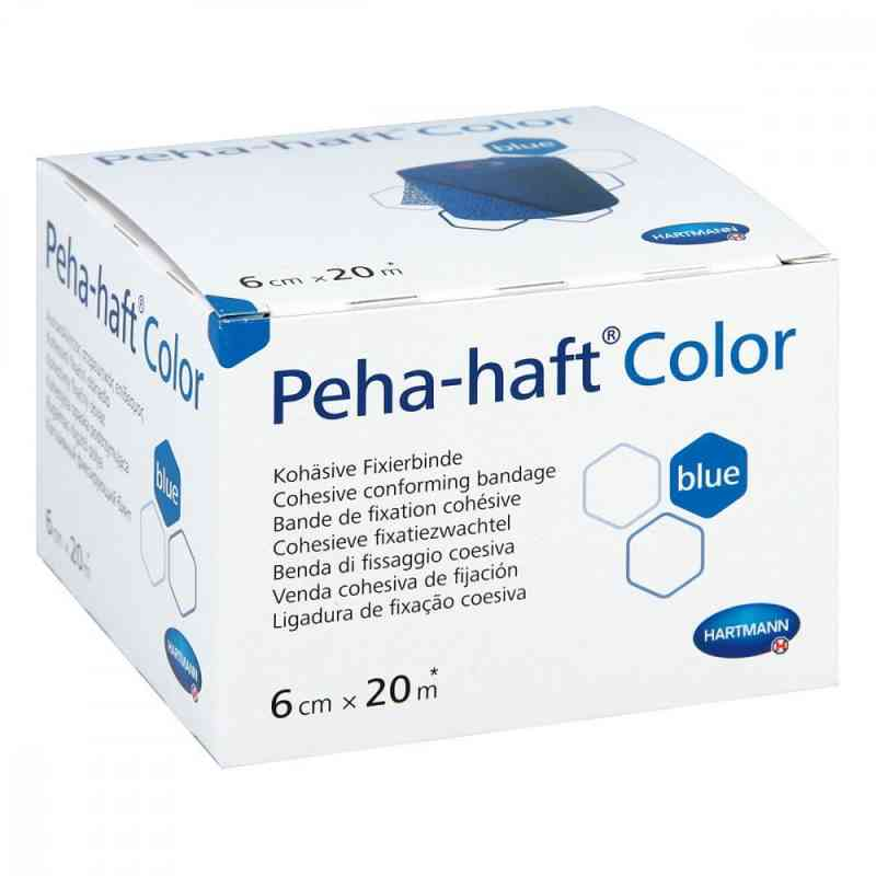 Peha Haft Color Fixierbinde latexf.6cmx20m blau  zamów na apo-discounter.pl