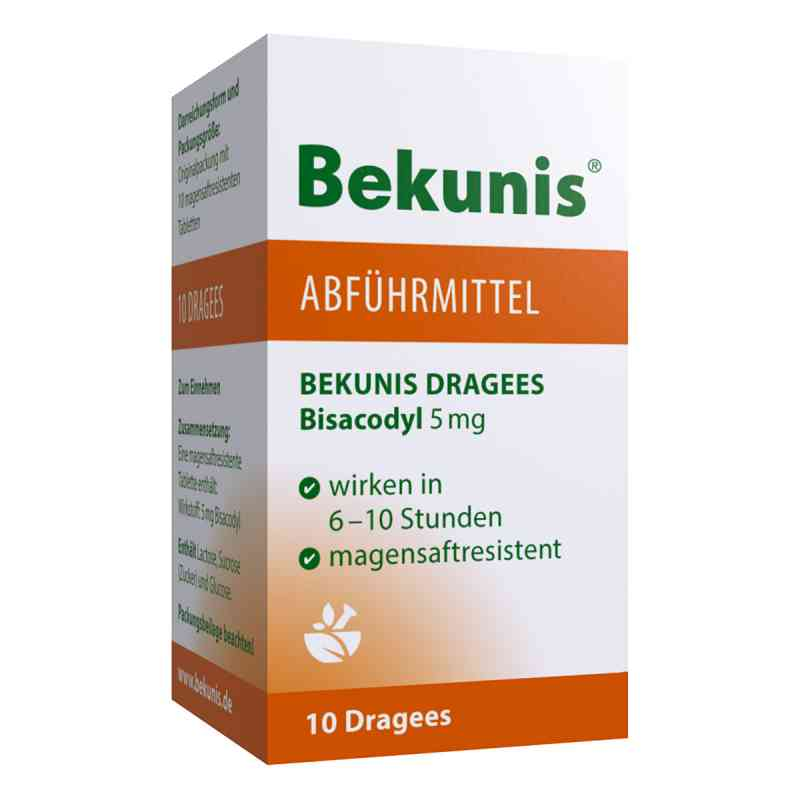 Bekunis Dragees Bisacodyl 5 mg magensaftr.  zamów na apo-discounter.pl