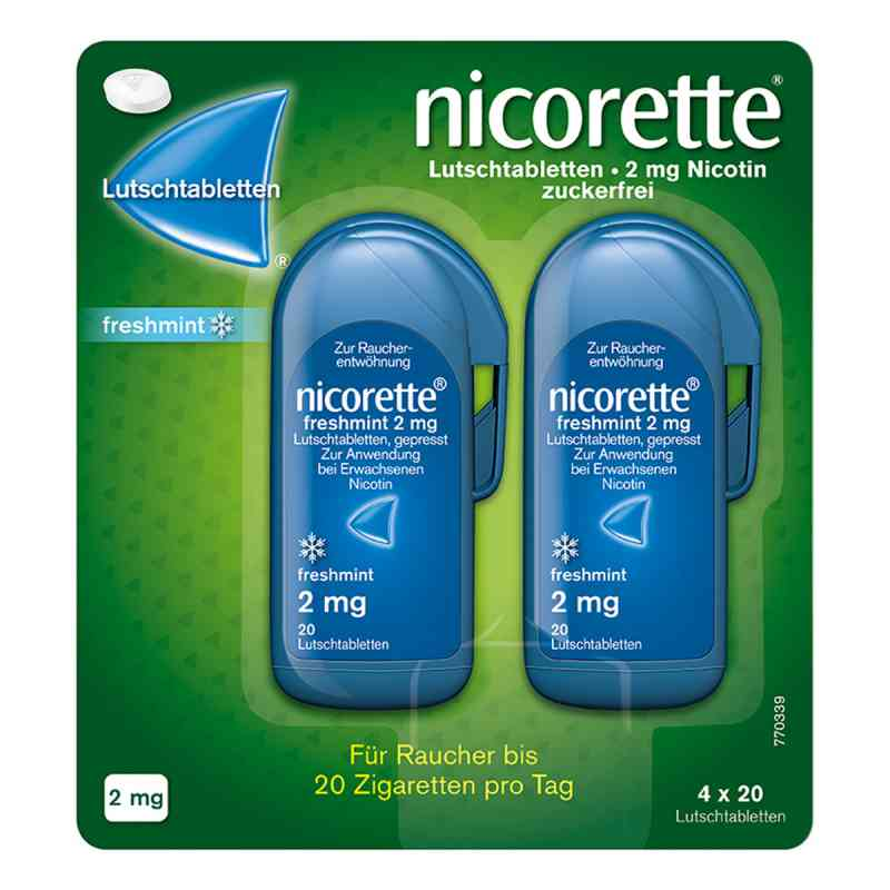 Nicorette freshmint 2 mg Lutschtabletten gepresst zamów na apo-discounter.pl