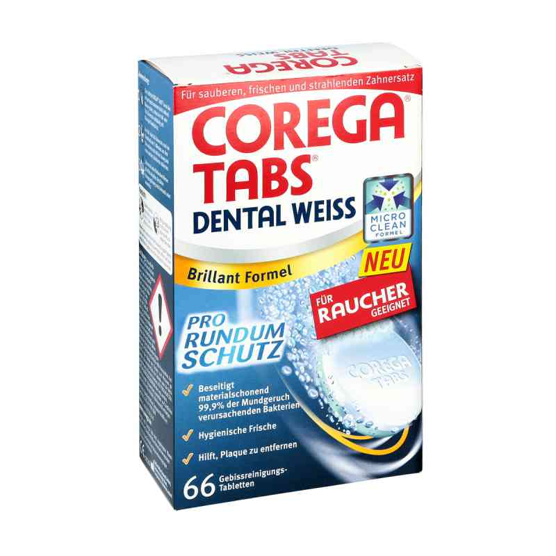 Corega Tabs Dental weiss Tabletten fuer Raucher  zamów na apo-discounter.pl