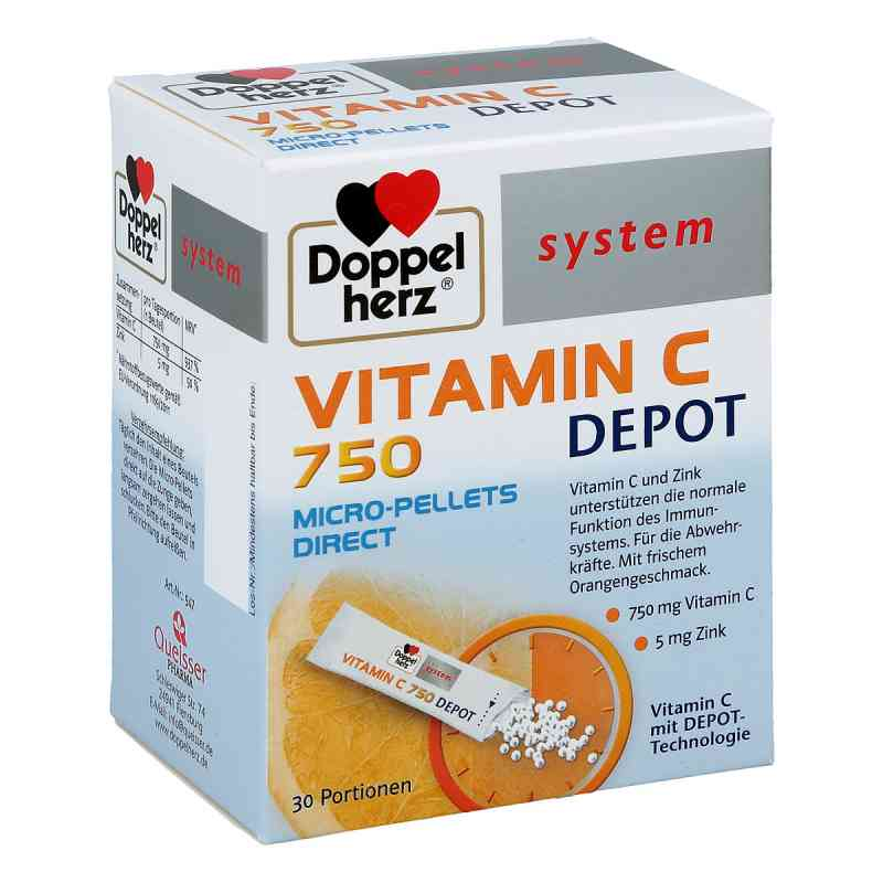 Doppelherz Vitamin C 750 Depot system Pellets zamów na apo-discounter.pl