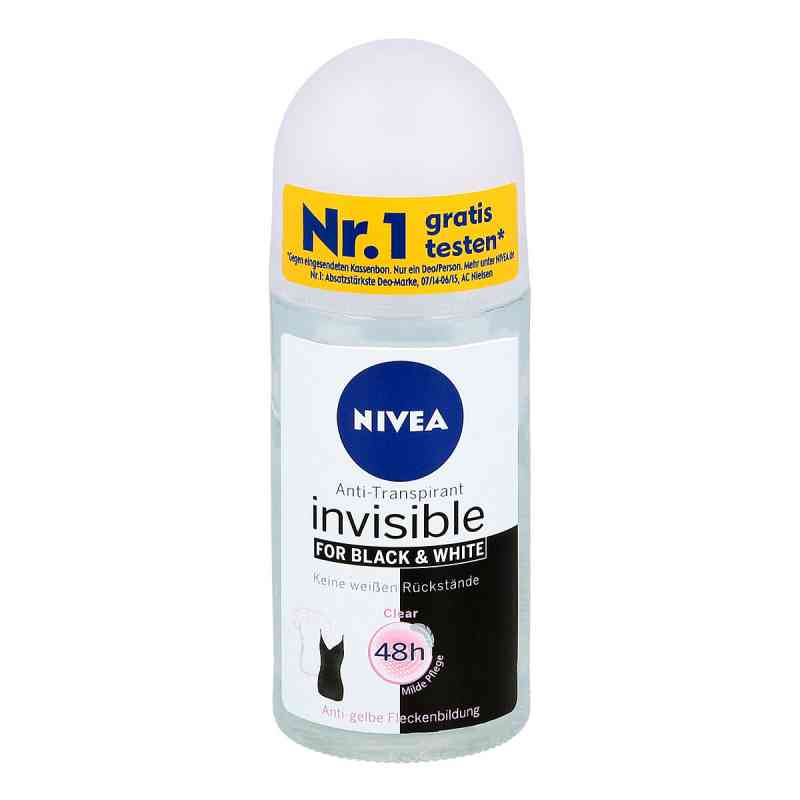Nivea Deo Roll-on invisible black & white Clear zamów na apo-discounter.pl