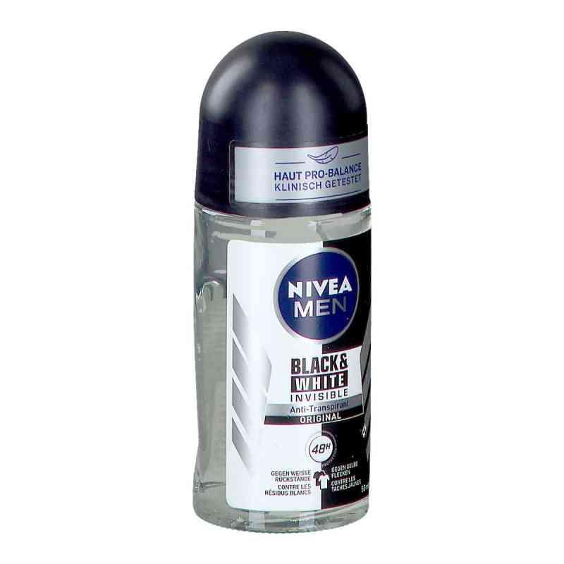 Nivea Men Deo Roll-on invisible black & white  zamów na apo-discounter.pl