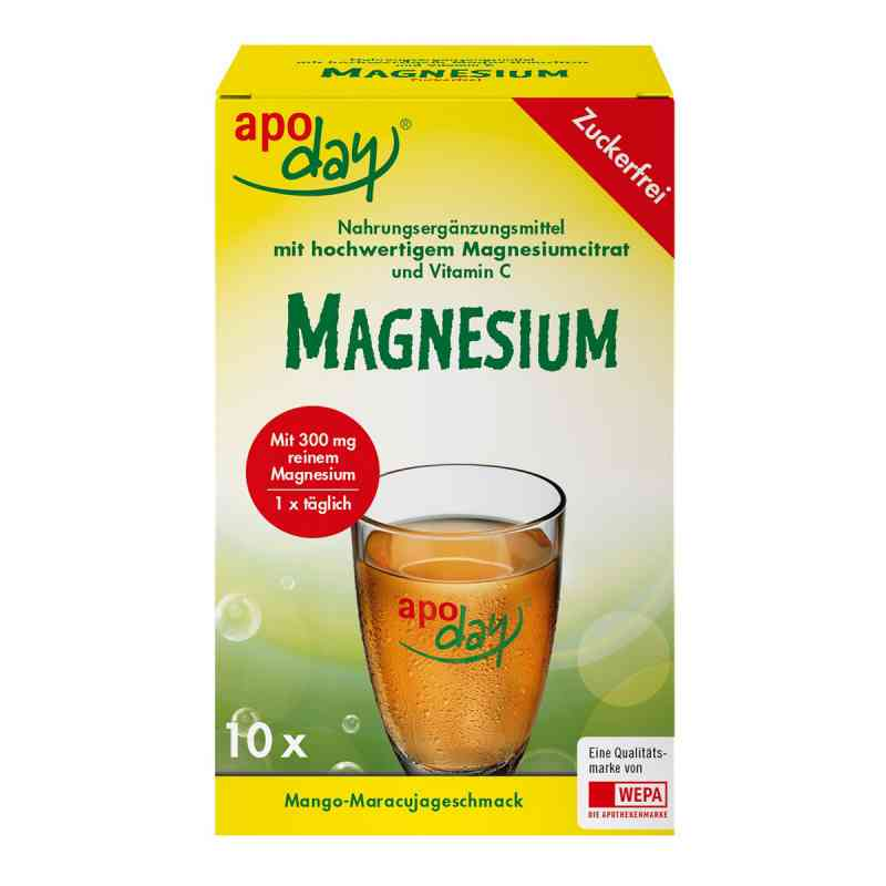 Apoday Magnesium Mango-maracuja zuckerfrei Pulver  zamów na apo-discounter.pl