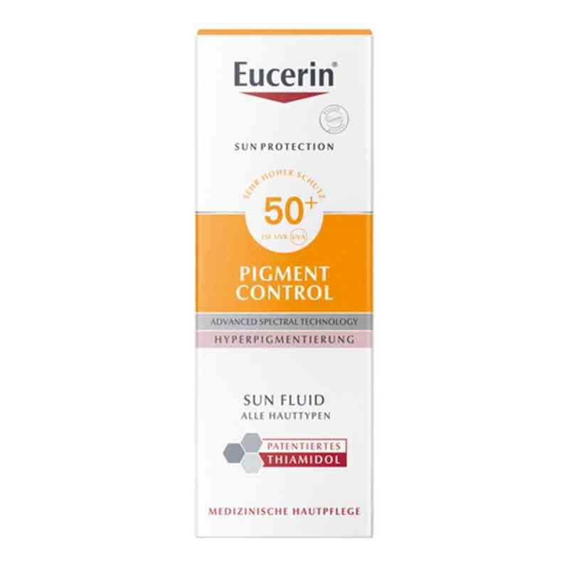 Eucerin Sun Fluid przeciw zmianą pigmentacyjnym SPF 50+  zamów na apo-discounter.pl