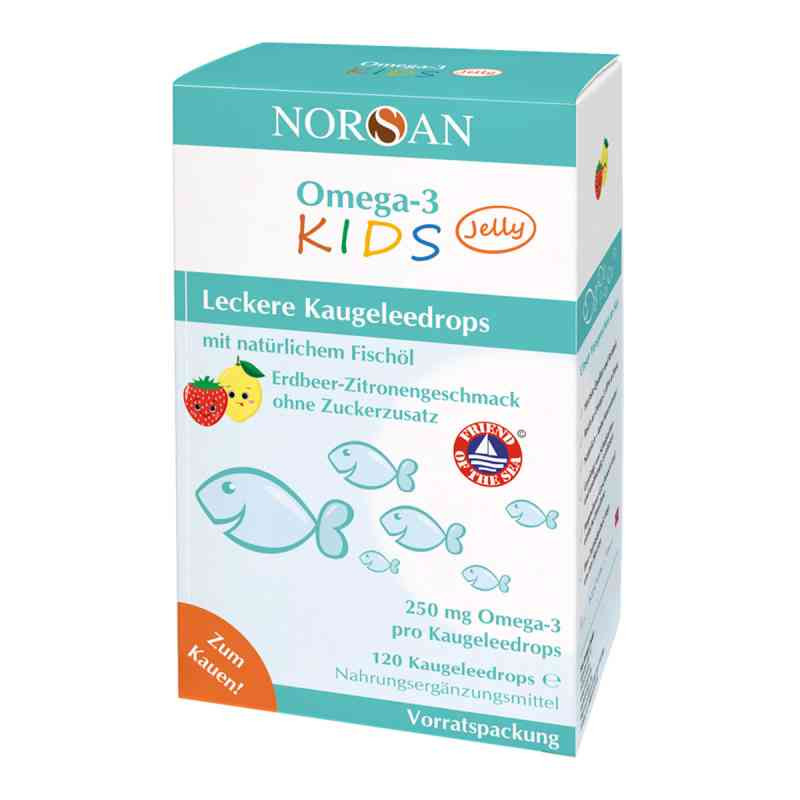 Norsan Omega-3 Kids Jelly Dragees Vorratspackung  zamów na apo-discounter.pl