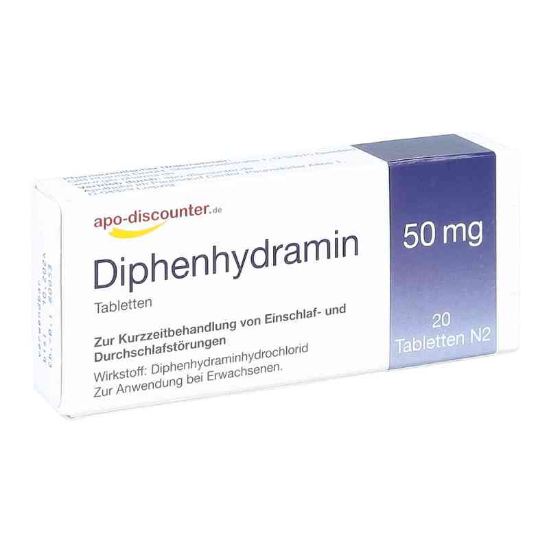 Diphenhydramin apo-discounter 50 mg Tabletten  zamów na apo-discounter.pl
