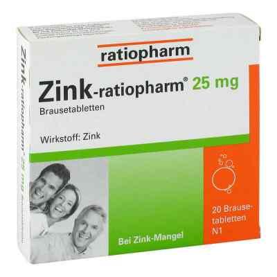 Zink Ratiopharm 25 mg Brausetabl.