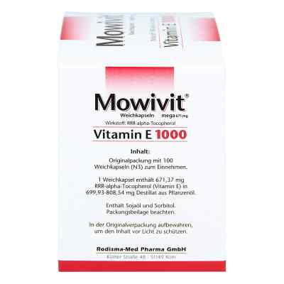 Mowivit Vitamin E 1000 Kapseln  zamów na apo-discounter.pl