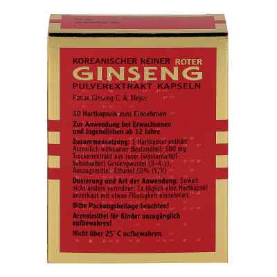 Roter Ginseng Extraktpulver Kapseln 500 mg