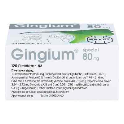 Gingium spezial 80 Filmtabl.
