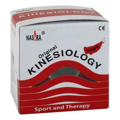 Nasara Kinesio Tape 5cmx5m rot inkl.Spenderbox