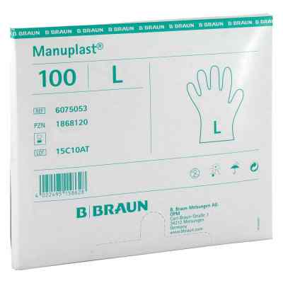 Manuplast Einmal Handschuhe gross, hell  zamów na apo-discounter.pl