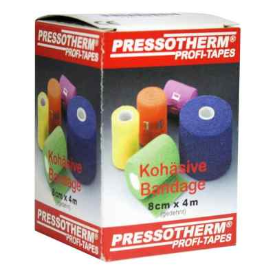 Pressotherm Kohaesive Bandage 8cmx4m gruen  zamów na apo-discounter.pl