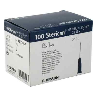 Sterican Kan.luer-lok 0,60x25mm Gr.16 blau  zamów na apo-discounter.pl