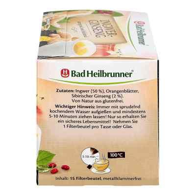 Bad Heilbrunner Herbata imbirowa z żeń-szeniem  zamów na apo-discounter.pl