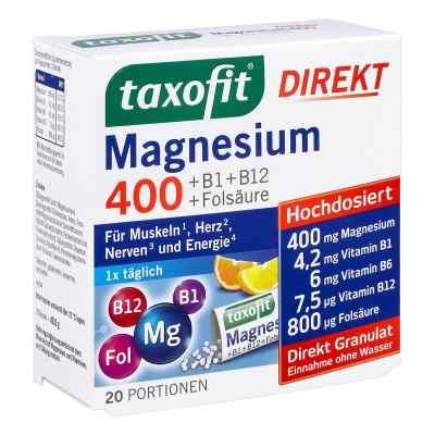 Taxofit Magnesium 400+ B1+ B6+ B12+ kwas foliowy 800 saszetki  zamów na apo-discounter.pl