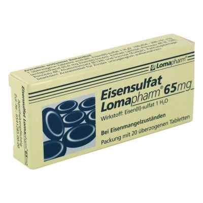 Eisensulfat Lomapharm 65 mg Tabl.ueberzogen