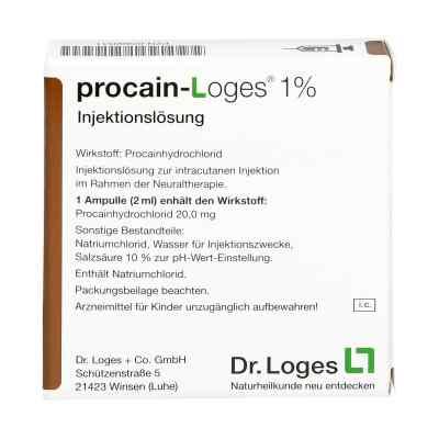 Procain Loges 1% Injektionsloesung Amp.
