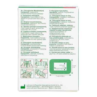 Curapor 7x5cm przezroczysty opatrunek na rany jałowy  zamów na apo-discounter.pl