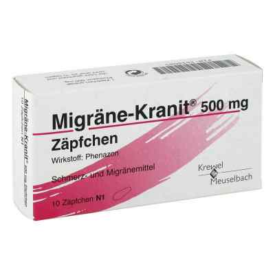 Migraene Kranit 500 mg Zaepfchen