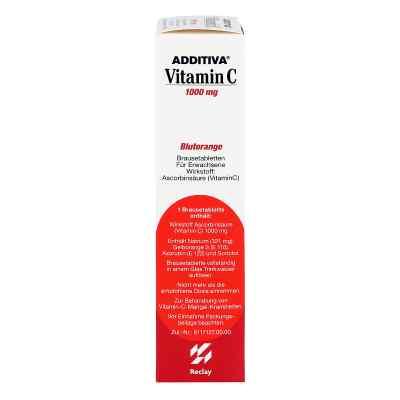 Additiva Vitamin C Czerwnone pomarańcze tabletki musujące  zamów na apo-discounter.pl