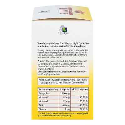 Zimt Kapseln 500 mg+Vitamin C+e  zamów na apo-discounter.pl