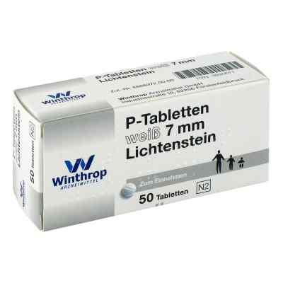 P Tabletten weiss 7 mm Teilk.