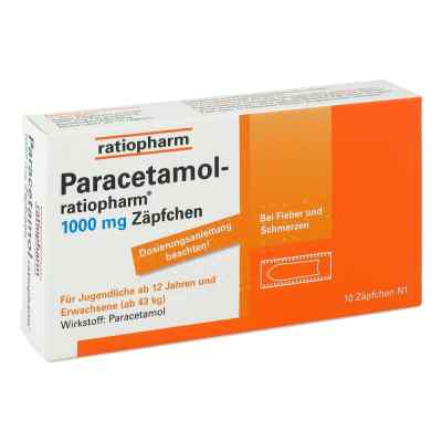 Paracetamol ratiopharm 1000 mg Erw.-suppos.  zamów na apo-discounter.pl