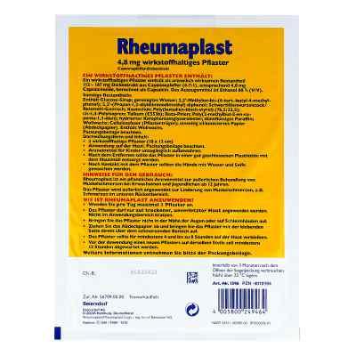 Rheumaplast plaster